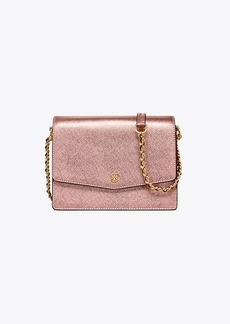 Tory Burch ROBINSON METALLIC CONVERTIBLE SHOULDER BAG
