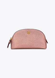 Tory Burch ROBINSON METALLIC SMALL MAKEUP BAG