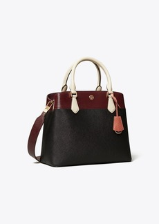 Tory Burch ROBINSON MIXED-MATERIALS TRIPLE-COMPARTMENT TOTE