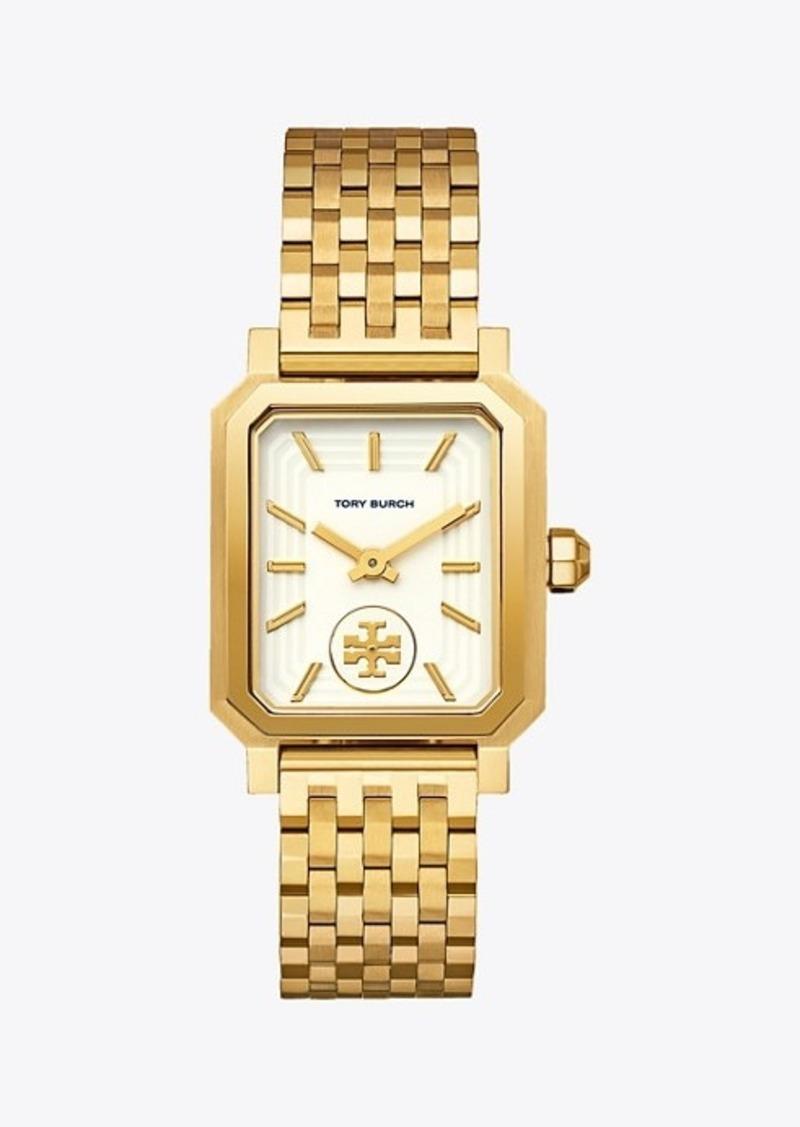 Tory Burch Robinson Watch, Gold-Tone/Cream, 27 x 29 Mm