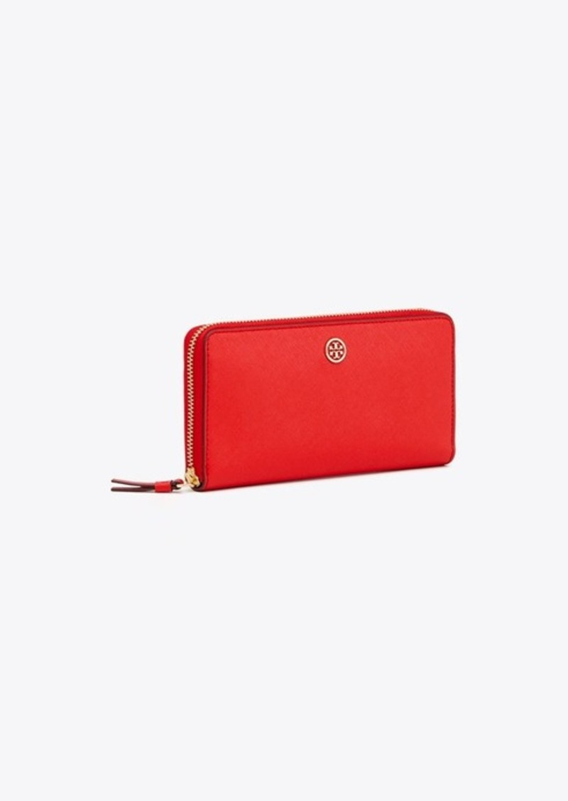 d13bd0290c7 Tory Burch ROBINSON ZIP CONTINENTAL WALLET | Misc Accessories