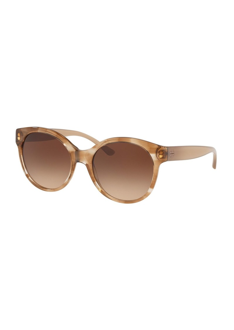 Tory Burch Round Acetate Gradient Sunglasses