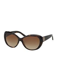 Tory Burch Round Gradient Sunglasses