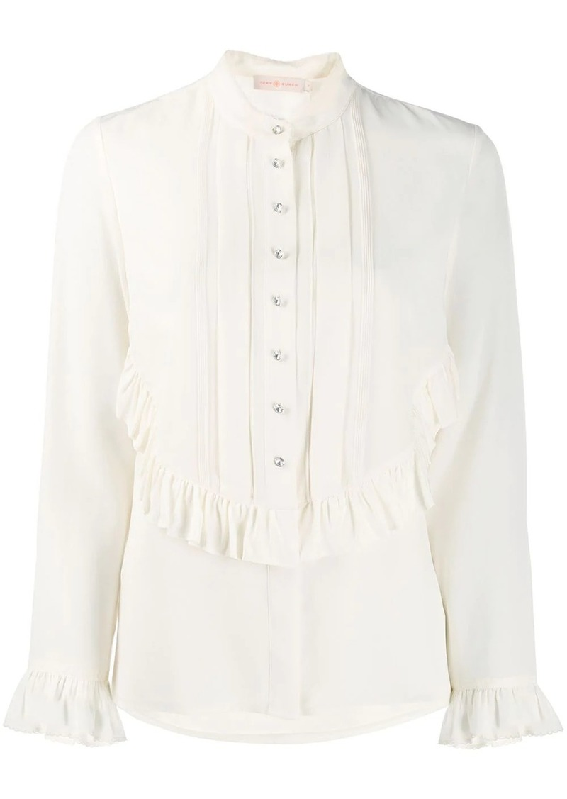 Tory Burch ruffle bib blouse