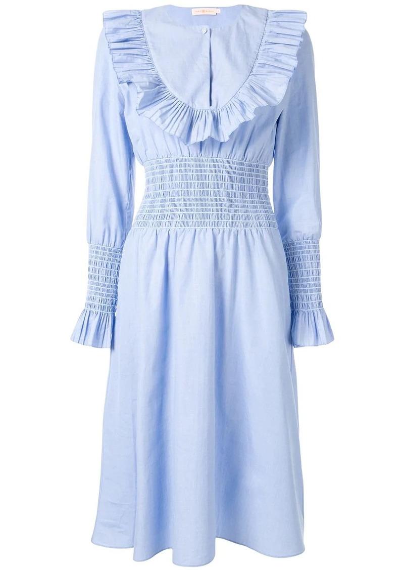 Tory Burch ruffle bib midi dress