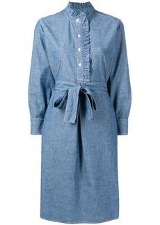 Tory Burch ruffle trim shirt dress