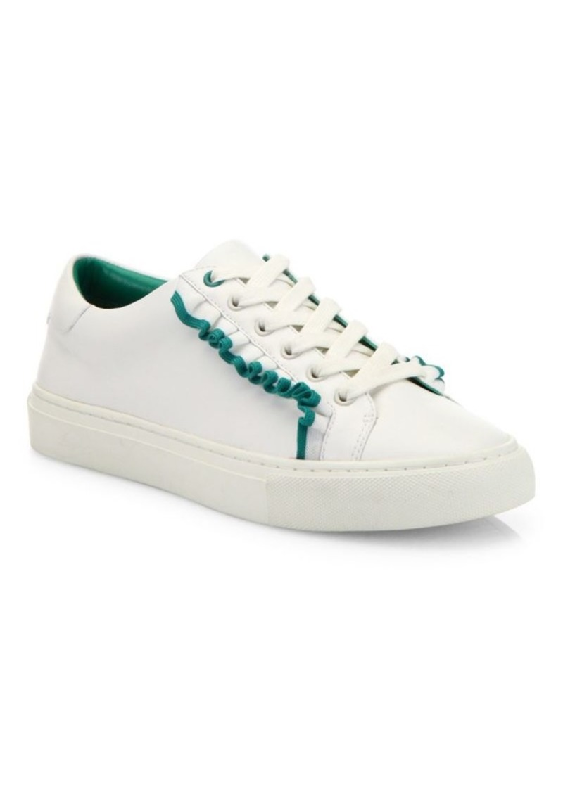 Tory Burch Ruffled Leather Sneakers