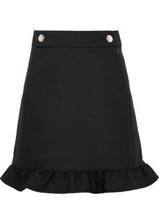 Tory Burch Ruffled Twill Skirt