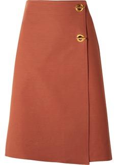 Tory Burch Ruth Stretch Cotton-blend Wrap Skirt