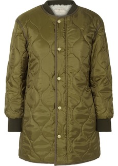 Tory Burch Rylee Shell And Faux-shearling Coat