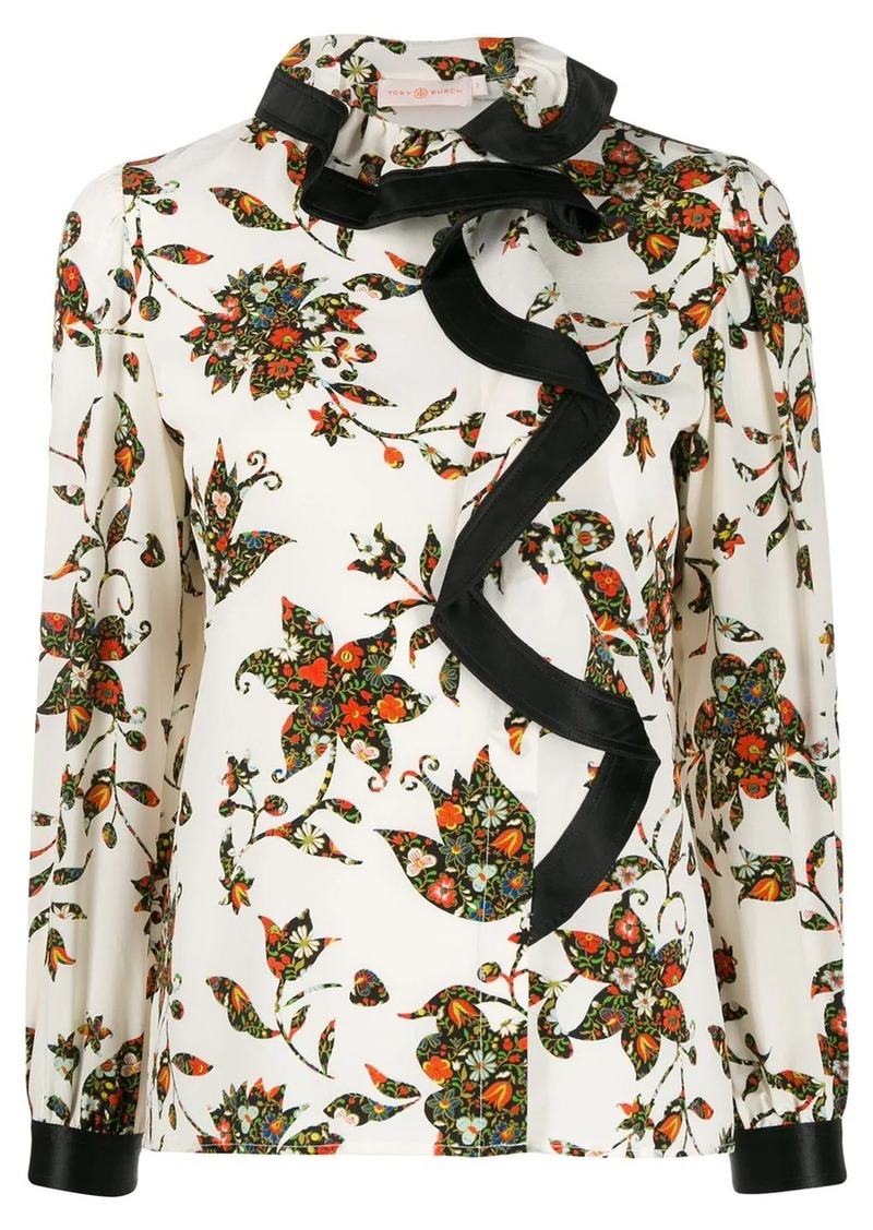 Tory Burch sacred floral blouse