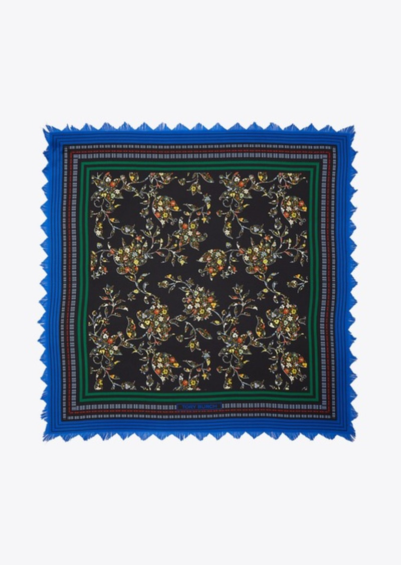 Tory Burch Sacred Floral Silk Square Scarf