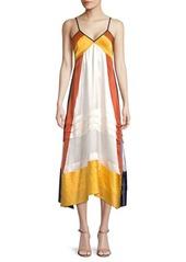 Tory Burch Sasha Tiered Silk Midi Dress