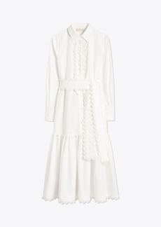 Tory Burch Scalloped Cotton Shirtdress