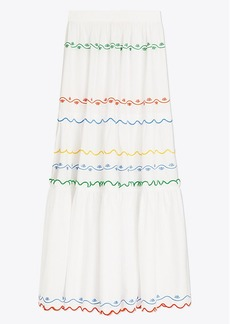 Tory Burch Scalloped Embroidered Maxi Skirt