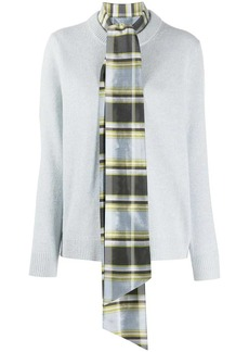 Tory Burch scarf and long-sleeve jumper combo