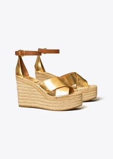 Tory Burch Selby Metallic Wedge Espadrille Sandal