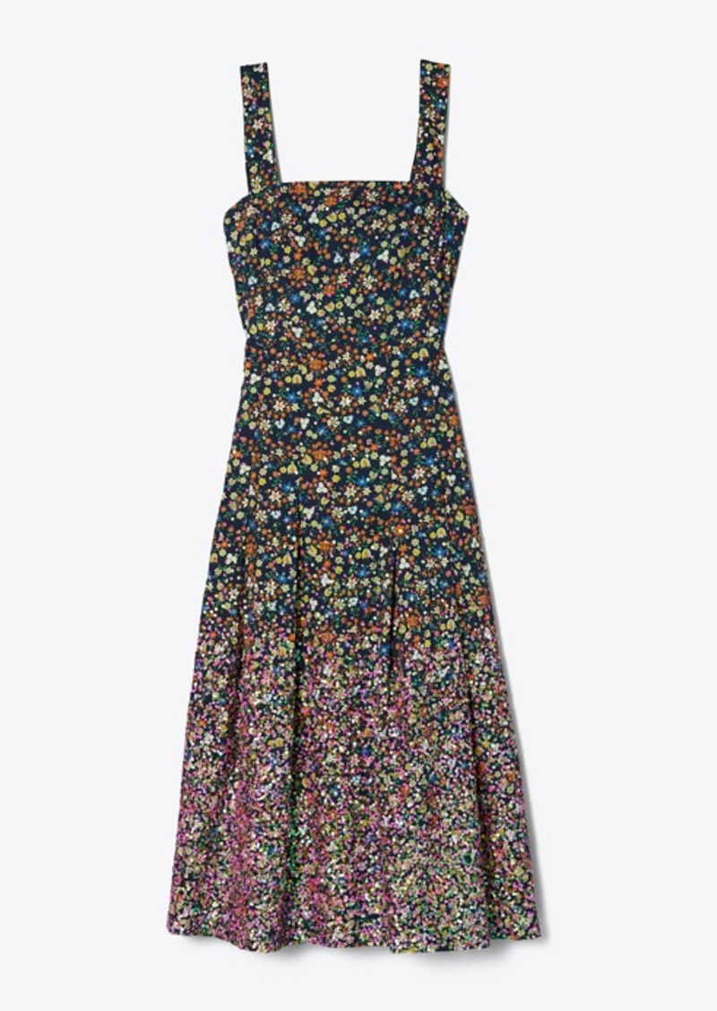 Tory Burch SEQUIN-EMBROIDERED COTTON DRESS