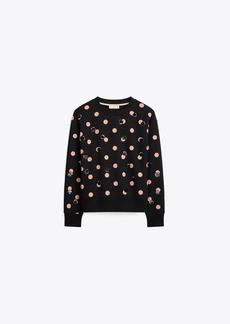 Tory Burch Sequin Polka Dot Sweatshirt