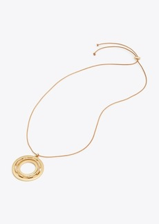 Tory Burch SERIF-T SPINNING PENDANT NECKLACE
