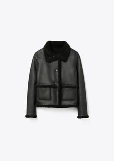 Tory Burch Shearling Reversible Jacket