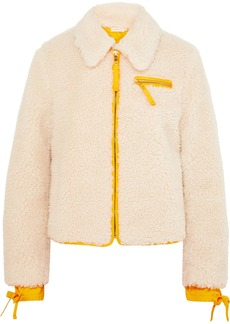 Tory Burch Shell-trimmed Faux Shearling Jacket