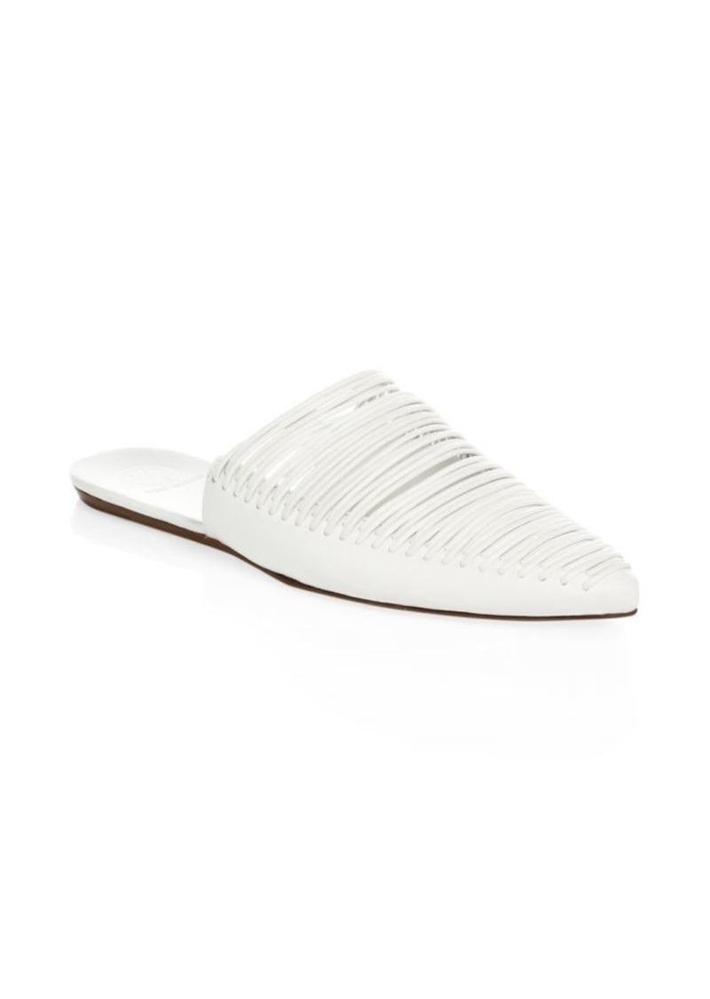 2e0c9233ce9d9 Tory Burch Sienna Flat Leather Slides