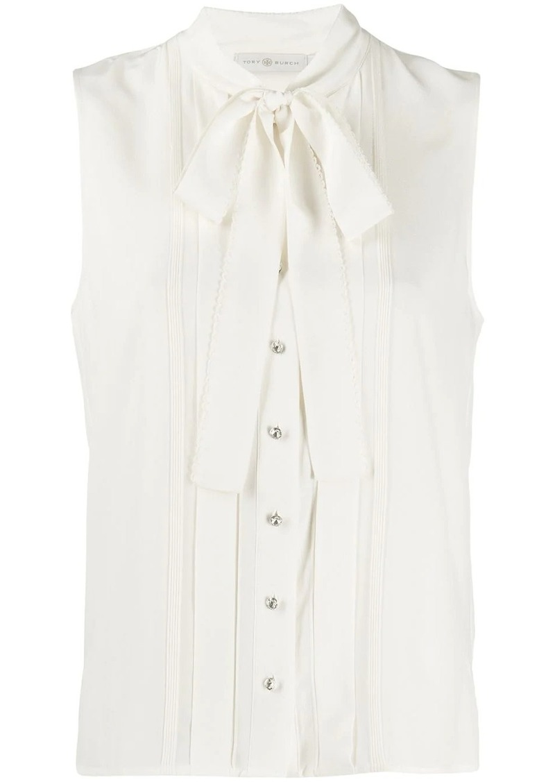 Tory Burch sleeveless bow blouse