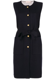 Tory Burch sleeveless fitted cardi-coat