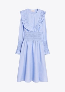 Tory Burch Smocked Cotton Dress