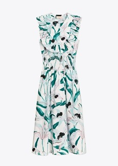 Tory Burch Smocked Printed Dress