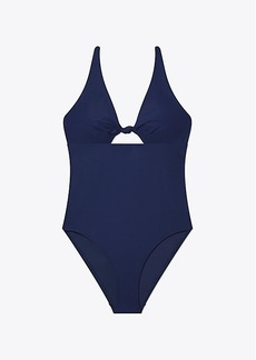 Tory Burch SOLID KNOTTED ONE-PIECE