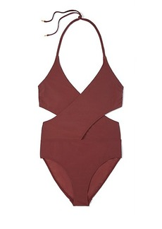 Tory Burch SOLID WRAP ONE-PIECE