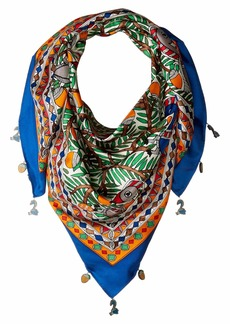 Tory Burch Something Wild Silk Square Scarf