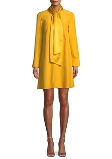Tory Burch Sophia Silk-Satin Neck-Tie Dress