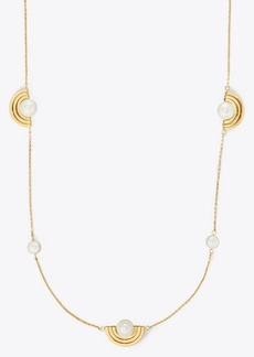 Tory Burch SPINNING PEARL NECKLACE