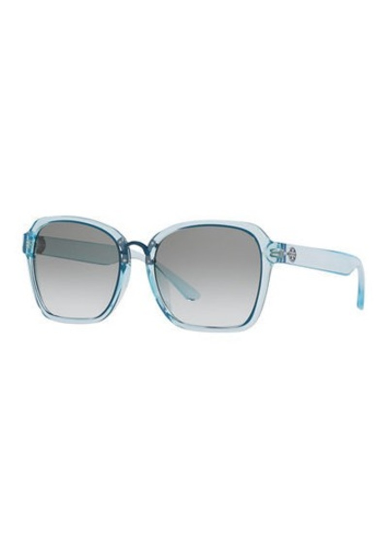 Tory Burch Square Gradient Sunglasses