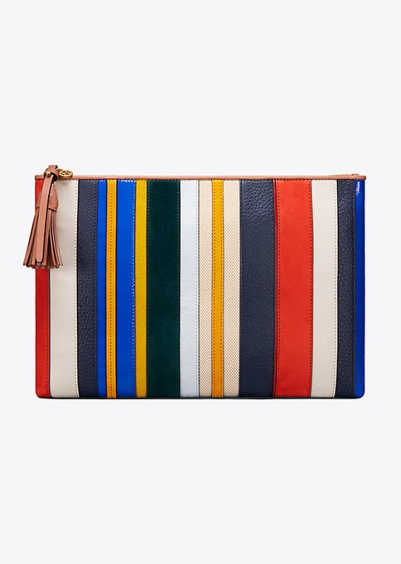 c6486a72b6f Tory Burch STRIPE LARGE POUCH