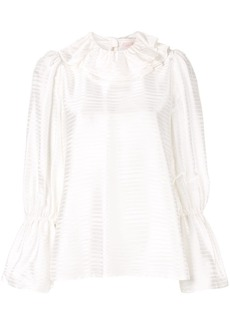 Tory Burch stripe ruffle blouse
