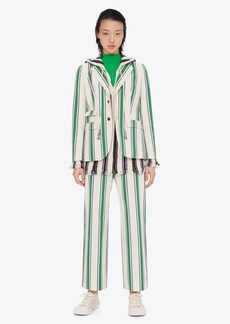Tory Burch Striped Cotton Blazer