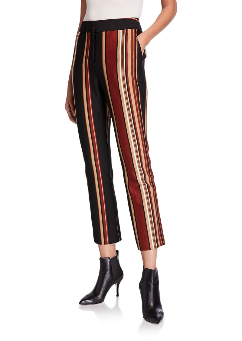 Tory Burch Striped Knit Crop Pants