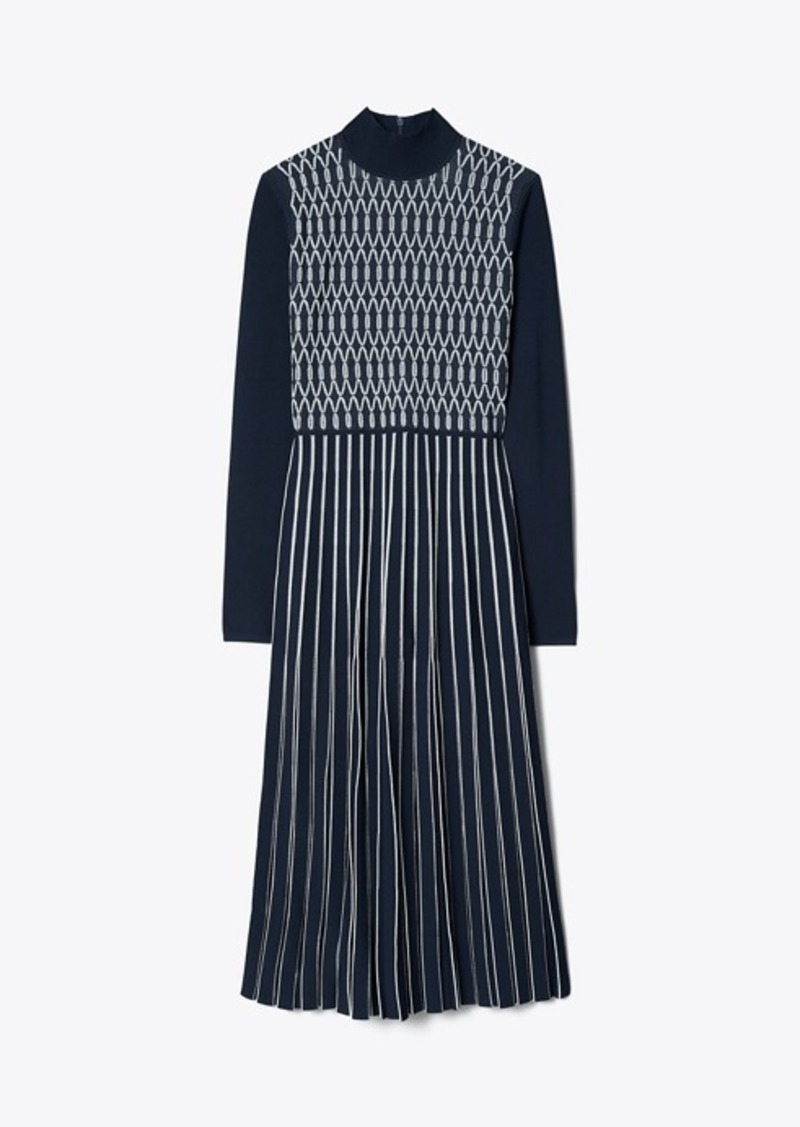 Tory Burch Striped Knit Sweater Dress