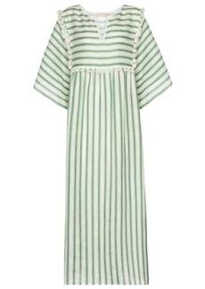 Tory Burch Striped linen midi dress