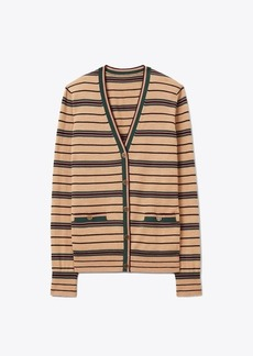 Tory Burch Striped Madeline Cardigan