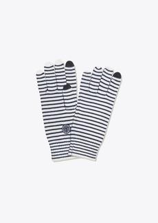 Tory Burch Striped Performance Merino Gloves