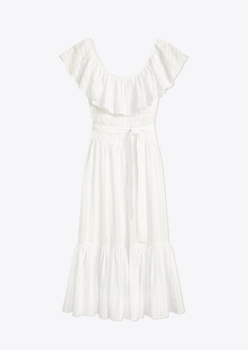 Tory Burch Striped Seersucker Dress