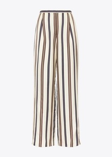 Tory Burch Striped Silk Pant