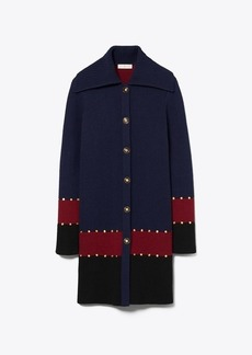 Tory Burch Stud Sweater Coat
