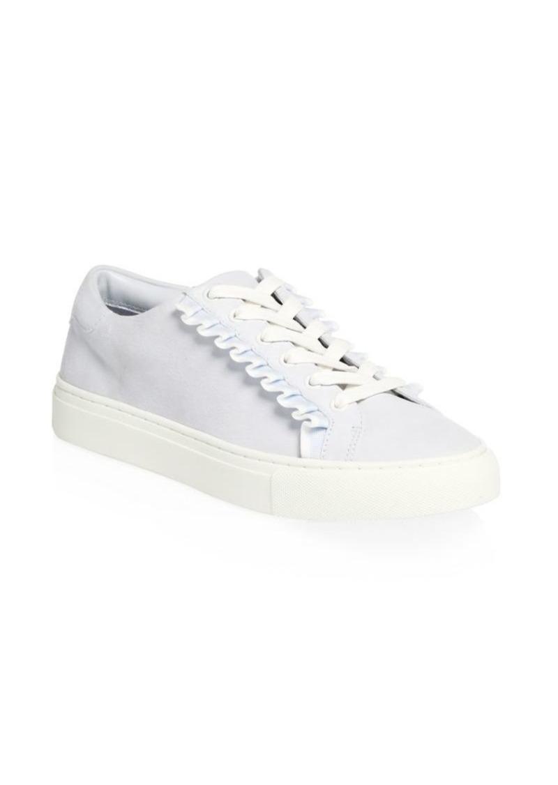6782d2e2a Tory Burch Suede Ruffle Low-Top Sneakers