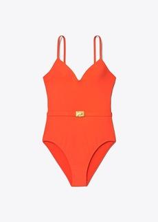 Tory Burch T-Belt One-Piece Swimsuit
